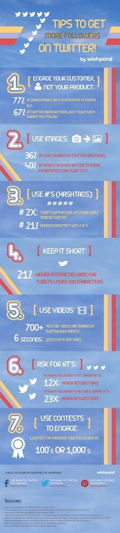 7 tips voor meer volgers - #infographic