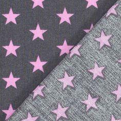 Cotton Stars Feliz 5 - Baumwolle - grau