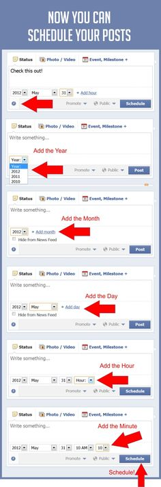 How To Schedule Your Facebook Posts Right On Facebook #facebook #infographic