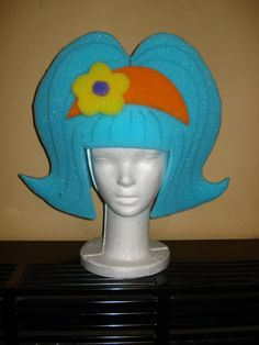 how to make foam headdress Crazy Hat Day, Crazy Hats, How To Make Foam, Foam Wigs, Fantasy Make Up, Ideas Para Fiestas, Shrek, Art Plastique, Headdress
