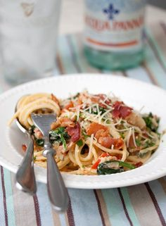 BLT Carbonara - dinner is ready in the time it takes to cook the pasta!