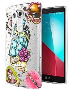 - Doctor Who Cartoon Sketch Tattoo Style Police Box Exterminate Tardis Design LG Fashion Trend CASE Gel Rubber Silicone All Edges Protection Case Cover Police Box, Cartoon Sketches, Lg G5, Cool Phone Cases, Tardis, Doctor Who, Sketch Tattoo, Tattoos, Cover