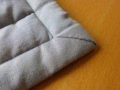 Decken-Ecken mit Schrägband einfassen