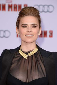 Hayley Atwell at Iron Man 3 premiere in Los Angeles, April 2013.