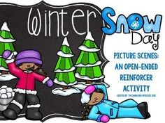 Directions:  Print the winter snow day picture scenes and the accessory pictures on page 5 on cardstock and laminate for durability (pages 3-4).  Cut out the pictures on page 5.    Use the snowball fight picture scene with the snowballs.  When a student says their speech sounds or speech/language target, they can put a snowball on one of the students.