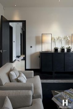 Kelly Hoppen for Regal Homes @ Circus Road Home Living Room, Living Room Designs, Living Spaces, Kelly Hoppen Interiors, Living Comedor, Best Interior Design, Interior Decorating, Decorating Ideas, Decor Ideas