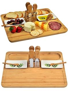 """Buy """"Sherborne"""" Bamboo Cheese Board Set with Olive Motif Dishes and other personalized wedding favors and personalized gifts. Easy Small Wood Projects, Woodworking Projects For Kids, Scrap Wood Projects, Restaurant Plates, Woods Restaurant, Wooden Cheese Board, Cheese Board Set, Simple Cheese Platter, Bamboo Dishes"""