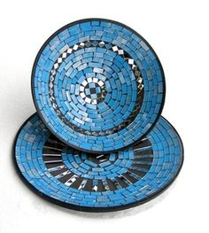 Bowl and plate set glass mosaic home decor