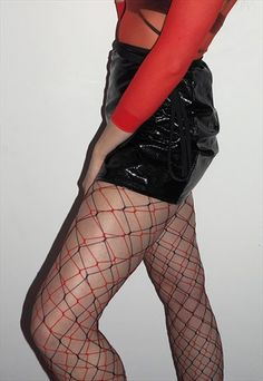RED WHALE NET TIGHTS