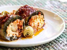 Zucchini Rollatini with Artichoke Ricotta Cheese Filling