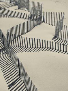 New York, Long Island, the Hamptons, Westhampton Beach, Beach Erosion Fence, USA  Photographic Print