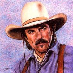 Tom Selleck - Don Marco crayon art Tom Selleck, Cow Girl, Cow Boys, Cowboy Art, Cowboy And Cowgirl, Cowboy Pics, Vintage Cowgirl, Crayon Art, Crayon Drawings