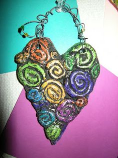 WHAT'S HAPPENING IN THE ART ROOM??: 1st Grade Clay Coil Hearts