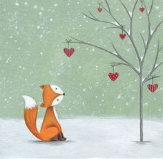 Lucy Barnard - Christmas Fox Snow