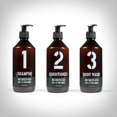 Shampoo, Conditioner, and Body Wash