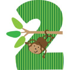 Birthday Monkey Toddler Apparel has green striped number 2 and cute monkey for your zoo or jungle party. Panda Birthday Cake, 2nd Birthday, Safari Theme, Jungle Theme, Baptism Desserts, Disney Background, Leaf Template, Cute Monkey, Pbs Kids
