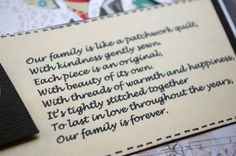 quotes about quilts | ... quotes. And I found this cute little poem about family being like a