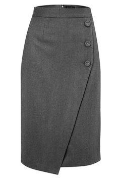 Mae Flannel Wrap Skirt