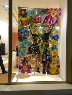 """RED VALENTINO, Rome, Italy, """"Crochet Window display .....Amor Roma!"""", creative by London Kaye, p[inned by Ton van der Veer"""