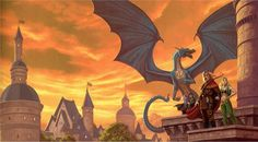 Dragonlance, Chronicles, Dragons of Summer Flame by Matt Stawicki. (Higher res.)