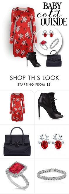 """Untitled #2246"" by swc0509 ❤ liked on Polyvore featuring Yves Saint Laurent, Versace, Allurez and Apples & Figs"