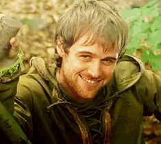 """There's something wrong with you."" -Much, BBC Robin Hood. Love his mischievious grin!!:)"