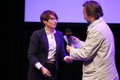 Monika Glowacka, the chairman of Lodz Film Commission and the ceremony award of Tuwim competition.