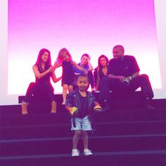 Family Fun Day from North West's Cutest Baby Pictures  The Kardashian-Jenner clan enjoys a day at the museum.
