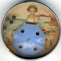 Antique girl with umbrella dexterity puzzle,c.1920's-30's, Germany, collection of Barbara LevineUmbrella