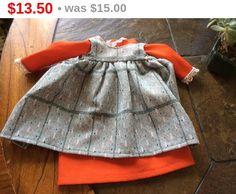 Online Sale Fancy 2 part doll dress orange long sleeved by EMTWTT