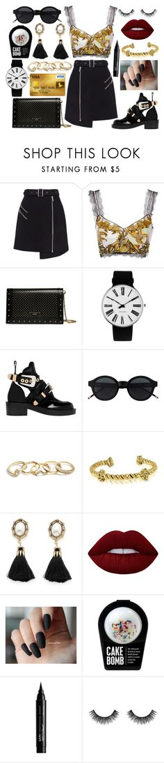 """Untitled #394"" by patricia-manso ❤ liked on Polyvore featuring Cameo, Balmain, Rosendahl, Balenciaga, GUESS, Aurélie Bidermann, Lime Crime, NYX and Velour Lashes"