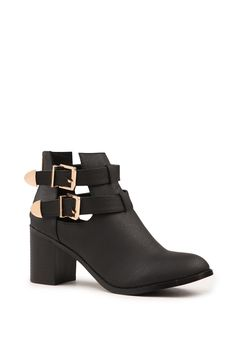 Arlo Cut Out Heeled Boot | Cotton On