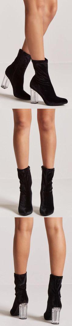 Velvet Sock Boots // 18.00 USD // Forever 21