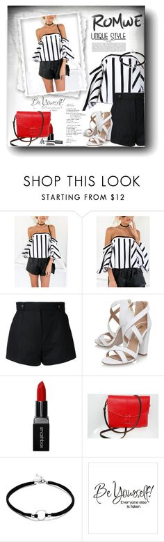 """ROMWE"" by snezanamilunovic ❤ liked on Polyvore featuring Courrèges, Miss KG and Smashbox"