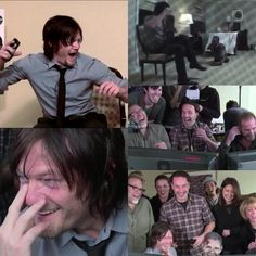 One of the one million reasons why I love Andrew Lincoln, Greg Nicotero and of course Norman Reedus!! I love this video lol