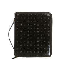 Attavanti - Arcadia Designer Italian Patent Leather iPad Air Zip Cover -  Black 7949e00d3fbf4