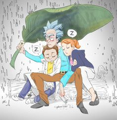 OP: tfw your jungle planet in outer space adventure with your grandkids is halted by a broken portal gun and naptime | Rick and Morty