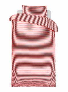 Tasaraita-pussilakanasetti (punainen,valkoinen)  Sisustustuotteet, Makuuhuone, Pussilakanat   Marimekko
