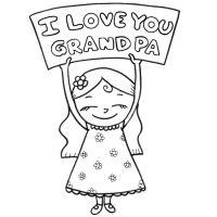 I love you grandma coloring page PreK Pinterest Grandparents