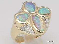 Opal - Goldschmuck (Ring)
