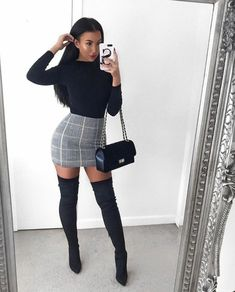 fall outfits going out outfits winter fashion casual work clothing - New Ideas Mode Outfits, Skirt Outfits, Trendy Outfits, Fall Outfits, Classy Going Out Outfits, Winter Going Out Outfits, Christmas Fashion Outfits, Night Outfits, Christmas Outfit Women