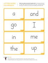 Pre-primer (preschool) sight word flashcards.  Just print them out and cut into 8 separate flash cards.  I always print mine on cardstock since my 4yo can be a little rough with them and the cardstock helps them last longer.