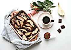 Making Eric Lanlard's chocolate and pear clafoutis. While fueling myself with good coffee. Eric Lanlard, Wedding Dj, Best Coffee, Afternoon Tea, Pear, Birthday Parties, Sweets, Chocolate, Cooking
