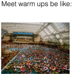 When you're lucky to even get in the pool when you're warming up for a meet: | 24 Pictures That Will Actually Hit A Little Too Close To Home For Swimmers