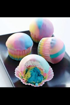 Colourful Moon Cupcakes ✿ ☺ ☺