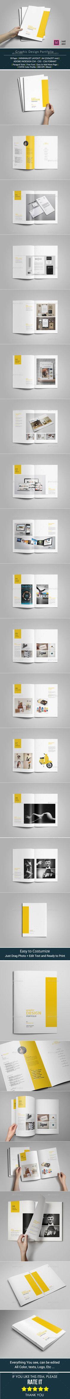 Portfolio Brochure Template #design Download: http://graphicriver.net/item/portfolio-brochure-template/10393655?ref=ksioks