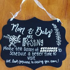New Baby Sign--Do Not Disturb