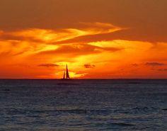 Sailing at Sunset, Hawaii on Etsy, $15.00