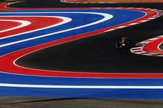 Sebastian Vettel of Red Bull Racing drives during the final practice session prior to qualifying for the United States Formula One Grand Prix at the Circuit of the Americas on Saturday, Nov. 17.  Our seats!