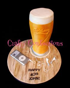Exceptional Wedding and Special Occasion cakes and cupcakes in Midleton, Co. Happy Birthday Man, Special Birthday Cakes, Adult Birthday Cakes, 21st Birthday, Masculine Cake, Bottle Cake, Homemade Beer, Pint Of Beer, Diy Mugs